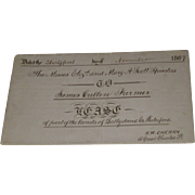 1867 Land Lease Ballydavid Co Waterford England Between Two Spinsters and Farmer