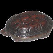 Vintage Bronze Turtle Trinket Box with Lid
