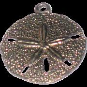 Vintage Sterling Silver Sand Dollar Seashell Charm