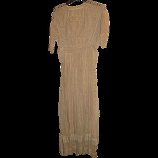 Antique Victorian Ladies Lace Day Dress