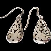 Beautiful Vintage Sterling Silver Taxco Openwork Earrings