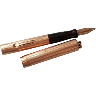 Wahl Vintage Gold Filled Ring Top Fountain Pen