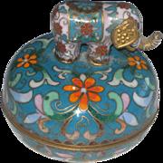 Vintage music box Chinese Cloisonne Enamel Elephant signed by Ardleigh-Elliott
