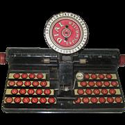 Vintage Marx Tin Litho Dial Typewriter Toy