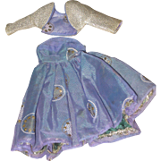 Vintage Vogue Doll clothing Blue party dress & Jacket 1950's