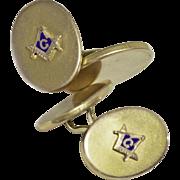 Antique Masonic 10k Gold Cufflinks