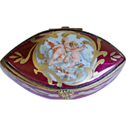 Lovely Vintage Limoges Box Depicting Angels or Cupids