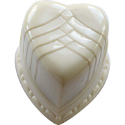 Adorable Vintage Heart-shaped Celluloid Ring Box