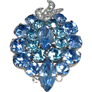Beautiful Blue Eisenberg Ice Brooch