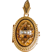 Lovely Victorian Etruscan Gold Locket