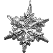 Vintage Sterling 1972 Gorham Snowflake Ornament