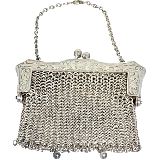 Antique Sterling Silver Chatelaine or Coin Purse