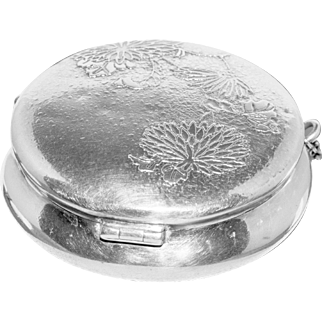 Large Sterling Victorian Patch or Pill Box for Chatelaine