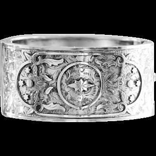 Wonderful Sterling Antique Bangle or Cuff Bracelet circa 1908 – William Fowke