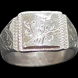 1951 Collectible Silver Korean War Ring