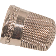 Antique 10k Thimble – Initial L and Size 11