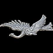 Huge Vintage Sterling Silver Danecraft Bird in Flight Brooch