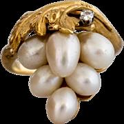 Gorgeous 14k Vintage Pearl Ring