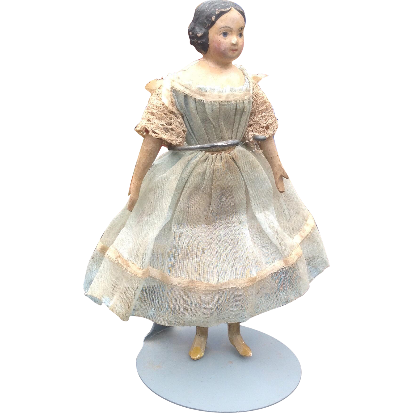rare dollshouse size 1840s papier mache sold on ruby lane. Black Bedroom Furniture Sets. Home Design Ideas