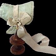 Original 1830s  bonnet for early wooden/ papier-mâché doll