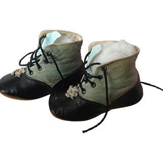 Original 19thC leather dolls boots