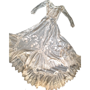 19thC lace wedding outfit
