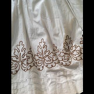 19thC cotton skirt with soutache decoration