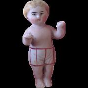 19thC miniature bisque boy