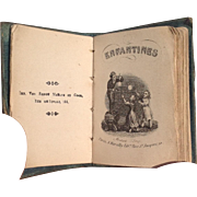 "19thC French Miniature Book ""Enfantines"" for Huret or Rohmer"