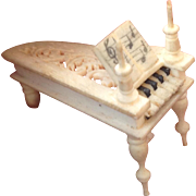 Tiny 19thC miniature carved Piano