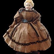 1860s Parian head Autoparapatetikas in original clothing