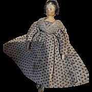 1840s wooden Grodnertal doll