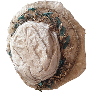 19thC wired dolls hat