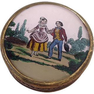 19thC French Eglomise BonBon box