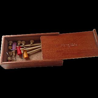 19thC miniature dolls Croquet set