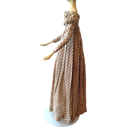 Rare Original Regency dress for early wooden doll