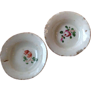 Pair of Early 19thC pearl ware dolls house plates