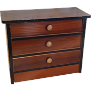 19thC German dolls house chest