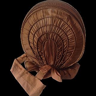 18thC Silk Calash Bonnet