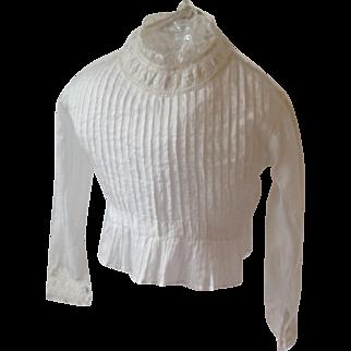 19thC cotton child's blouse