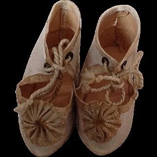 19thC dolls shoes
