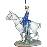 LLADRO Military Porcelain THE KINGS GUARD 1990-93 5642G Horse Figurine