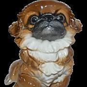 Rosenthal Germany Porcelain Dog Figurine Pekingese Puppy by Flinsch #291