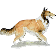 Hutschenreuther Germany Porcelain Dog Figurine Large Collie