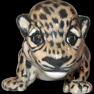 Royal Copenhagen Jaguar Wild Cat Cub Figurine 4659 Fact 1st MINT Jeanne Grut