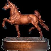 Royal Worcester England Porcelain Horse Figurine by Doris Lindner Saddlebred Stallion