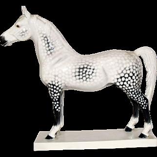 Bing & Grondahl Copenhagen Denmark Porcelain Arabian Horse Stallion Figurine #2271