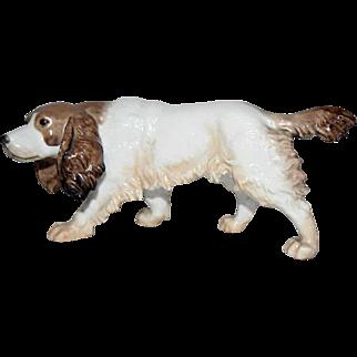 Rosenthal Germany Porcelain Dog Figurine - Spaniel Hunting Dog by Fritz