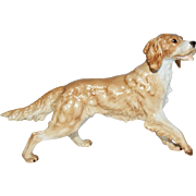 Rosenthal Germany Porcelain Dog Figurine Golden Retriever Dog Figurine