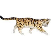 Hutschenreuther Germany Porcelain Striped Cat Figurine